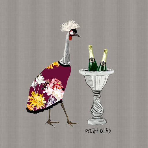 Posh Bird Card, From Sally Scaffardi Design