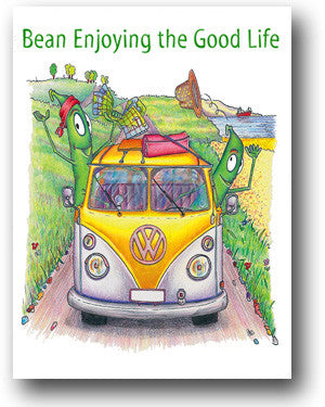 Camper Van Card - Bean Enjoying the Good Life