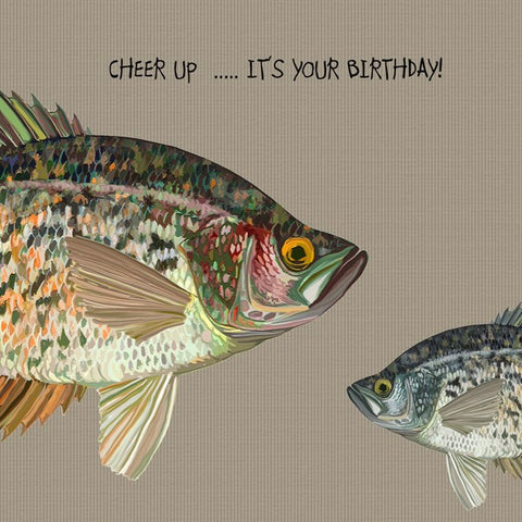 Fish Birthday Card, Cheer Up...It's Your Birthday! From Sally Scaffardi Design