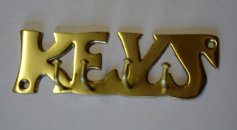 Brass KEYS Key Hooks