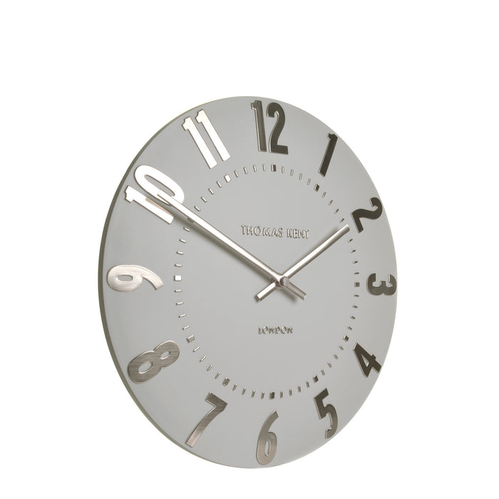 Thomas Kent 12inch Mulberry Silver Cloud Wall Clock