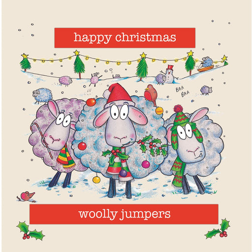 Sheep Christmas Card - Woolly Jumpers