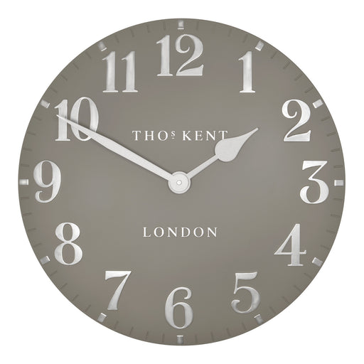 Wall Clock Thomas Kent 20inch Arabic Cool Mink
