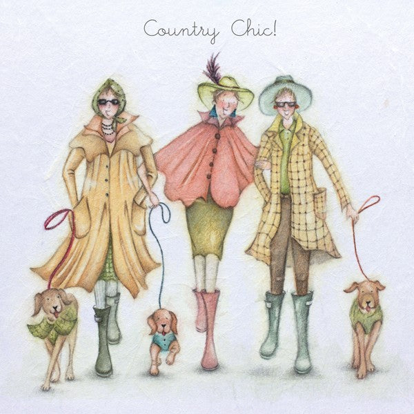 Country Lady Card - Country Chic! - Berni Parker
