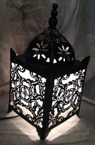 Moroccan Table Lamp - White Temple Lamp