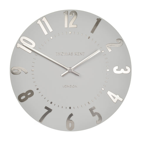 NEW - Thomas Kent Mulberry Silver Cloud Wall Clock - 20inch