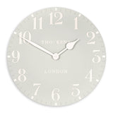 Dove Grey Arabic Wall Clock - 20inch Thomas Kent