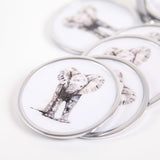 Baby Elephant Coasters set of 6 - Meg Hawkins