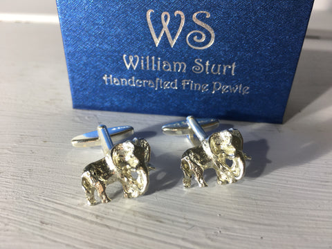 Elephant Cuff Links - Fine Pewter