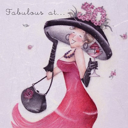 Ladies 50th Birthday Card - Fabulous at 50
