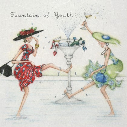 Wine Greeting Card - Fountain of Youth