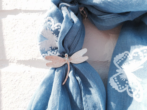 Pewter Dragonfly Scarf Ring