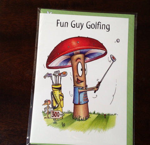 Funny Golf Card - Fun Guy Golfing