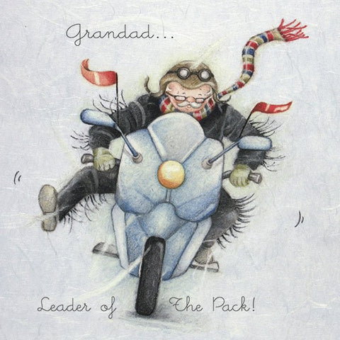 Grandad Card - Leader of The Pack!  Berni Parker