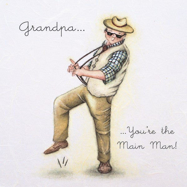 Grandpa Card - You're the Main Man! from Berni Parker