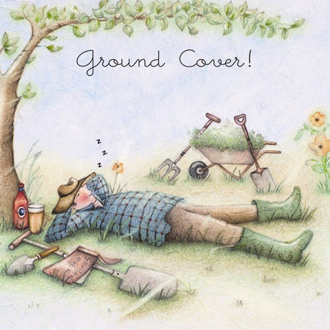 Gardening Card for him - Ground Cover !