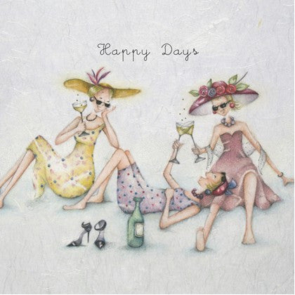 Wine Greeting Card - Happy Days