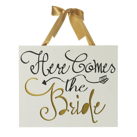 Wedding Plaque - Here Comes the Bride