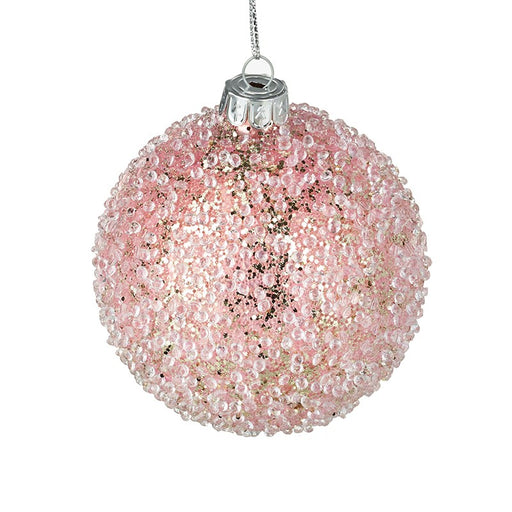 Pink Ice Christmas Bauble