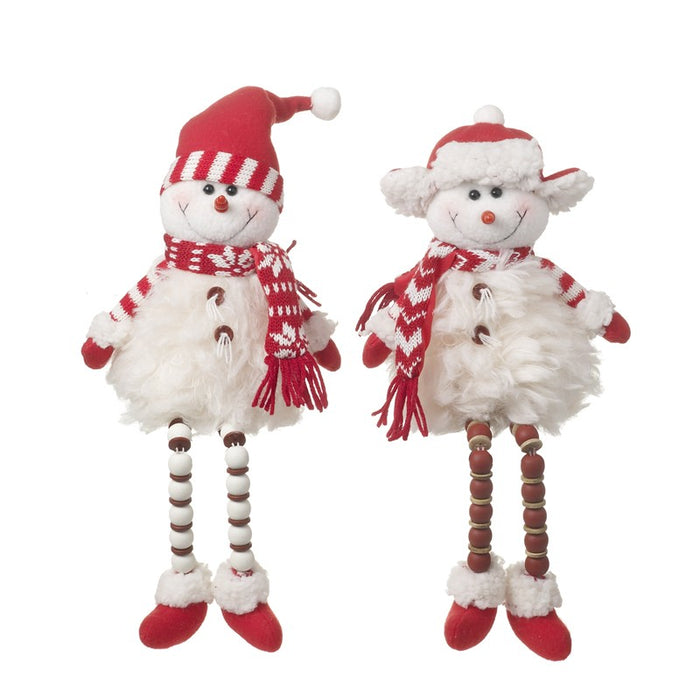 Mr and Mrs Snowman Christmas Shelf Sitters
