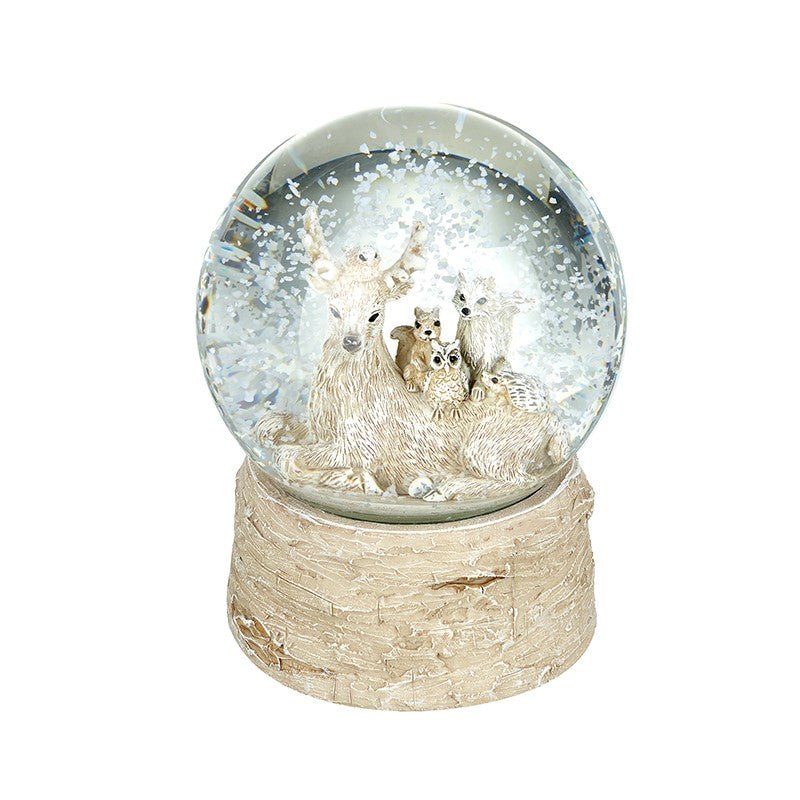 Christmas Snow Globe Woodland Friends