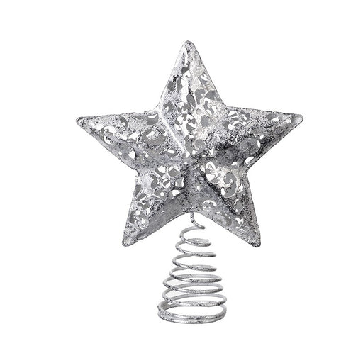 Silver Fretwork Tree Topper