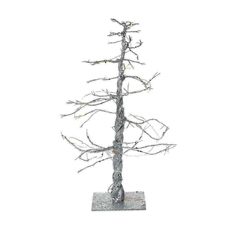 Silver Light Up Christmas Tree - 32cm