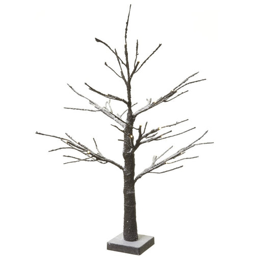 LED Snowy Brown 60cm Tree