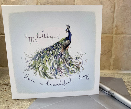 Peacock Birthday Card - Have a beautiful day