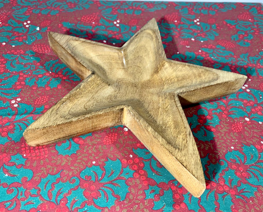 Wooden Star Christmas Nibbles Dish