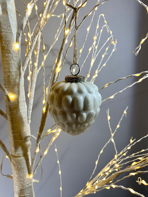 Traditional Christmas Bauble - White Pinecone - Heirloom Collection