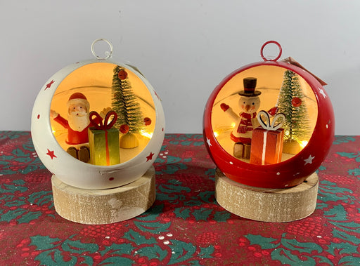 Light up Christmas Bauble Ornament