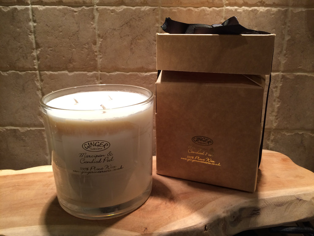 Large Scented Candle 3 Wick - Christmas - Marzipan & Candied Peel
