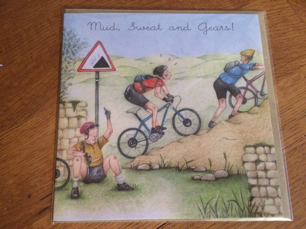 Cycling Card - Mud Sweat and Gears - Berni Parker