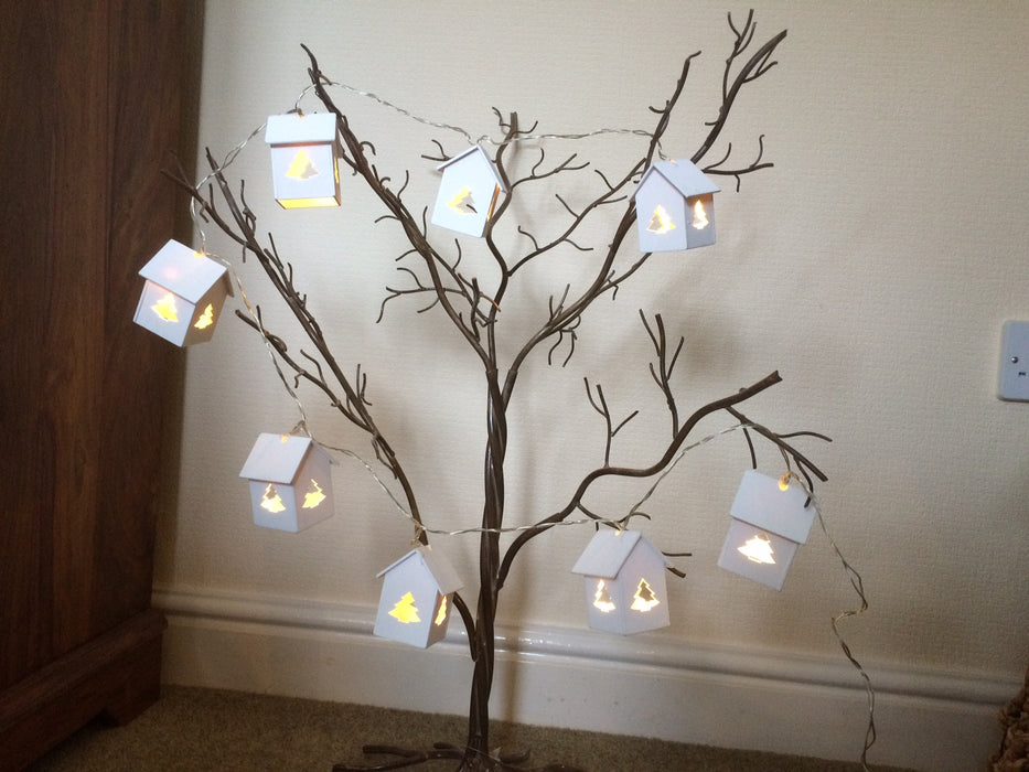 Lantern House Christmas String Lights