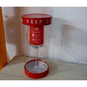 Wine Glass - KEEP CALM AND CARRY ON