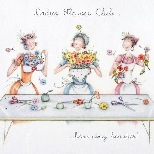 Flower Club Card - Blooming beauties!