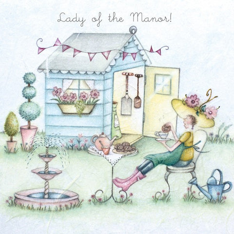 Gardening Card for her - lady of the Manor! - Berni Parker