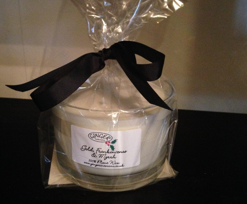 Scented Candle 3 Wick - Christmas - Gold Frankincense and Myrrh
