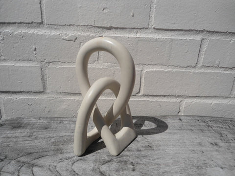 Natural Soapstone Love, Peace and Unity Knot - 20cm
