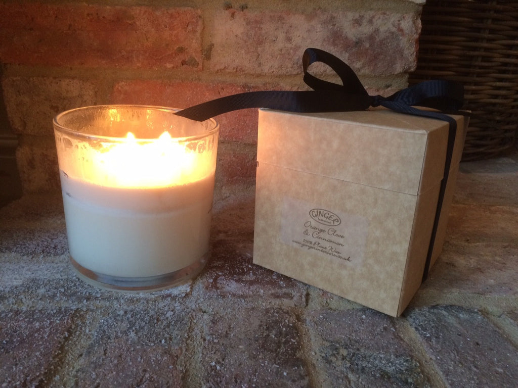 Large Scented Candle 3 Wick - Christmas - Orange Clove & Cinnamon