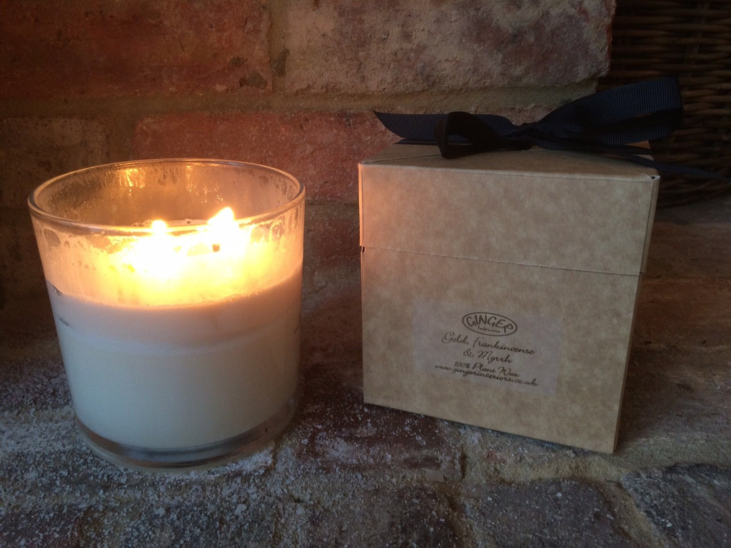 Large Scented Candle 3 Wick - Christmas - Gold Frankincense and Myrrh