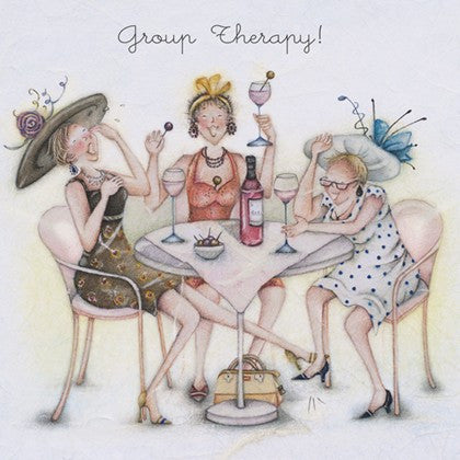 Greeting Card - Group Therapy! From Berni Parker