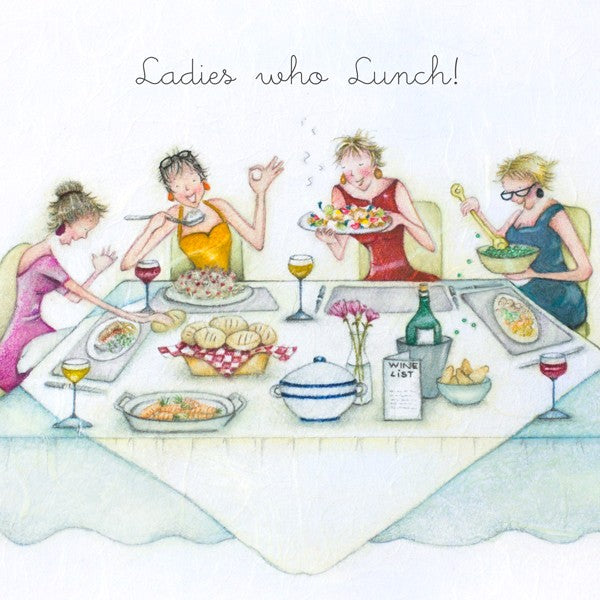 Girl Friend Card - Ladies who lunch! from Berni Parker