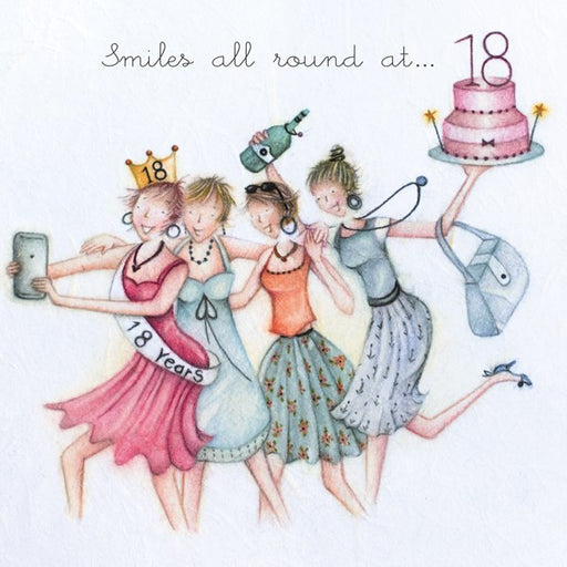18th Birthday Card - Smiles all round at 18, Berni Parker