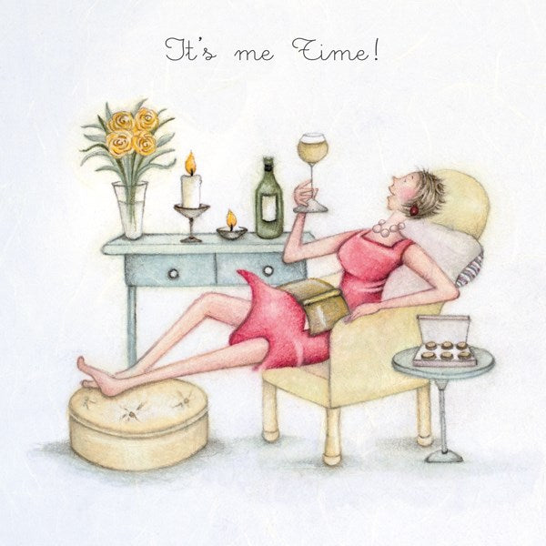 Ladies Birthday Card - Its me time! Berni Parker
