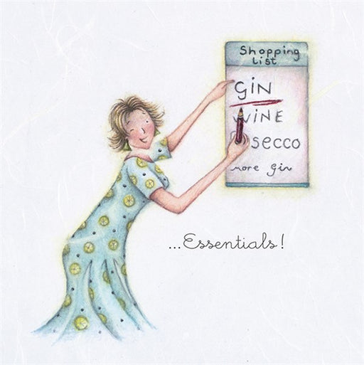 Gin Birthday Card - Essentials!  Berni Parker