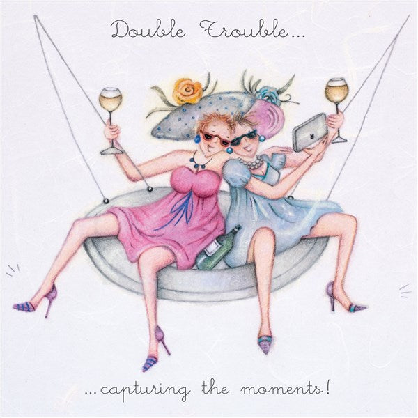 Double Trouble...capturing the moments! Best Friend Card from Berni Parker