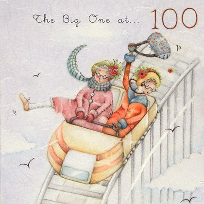 Ladies 100th Birthday Card The Big One at ... 100