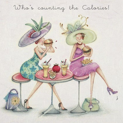 Greeting Card - Who's Counting the Calories?